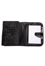 Black Micro-fiber Tri-fold Organizer Bible Cover