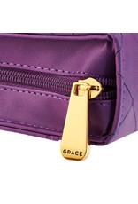 Cross Badge & Grace Zipper Bible Cover