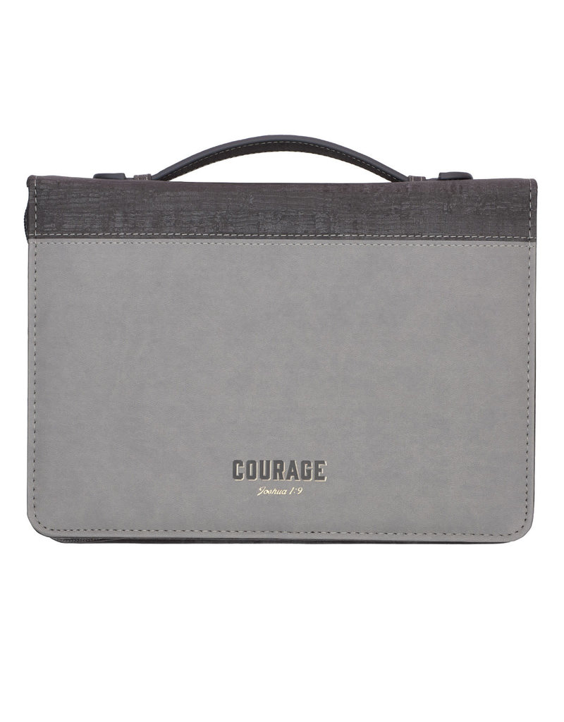 Two-Tone Courage/Strength LuxLeather Bible Cover