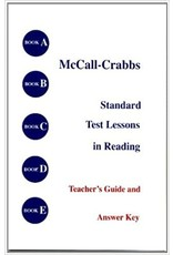 McCall-Crabbs Standard Test Lessons in Reading Teacher's Guide and Answer Key