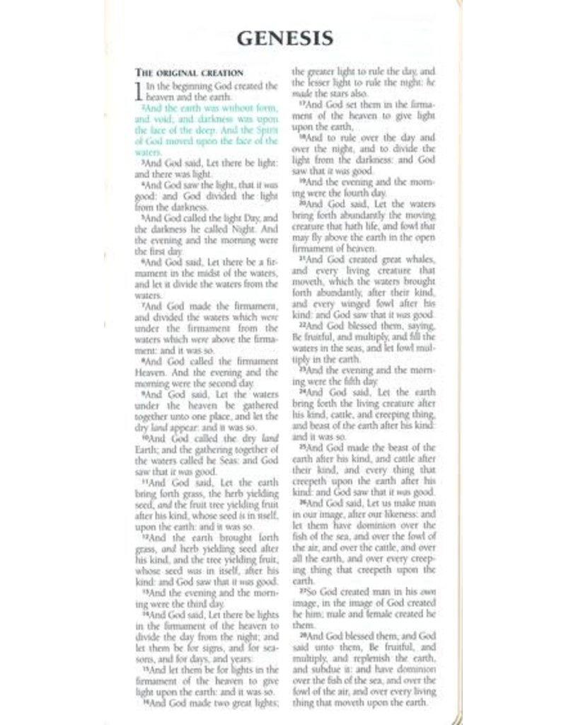Pink Floral Compact Bible: Promise Edition Flexisoft