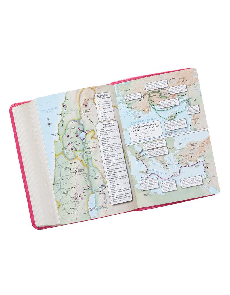 Large Print Pink Compact Bible