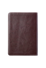Slimline Duo-Tone Brown/Pink With Leaf Debossing Compact Bible