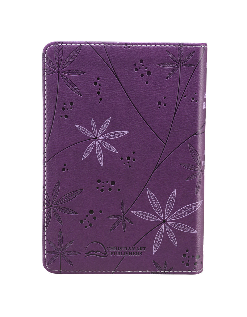 Purple Faux Leather Compact Bible