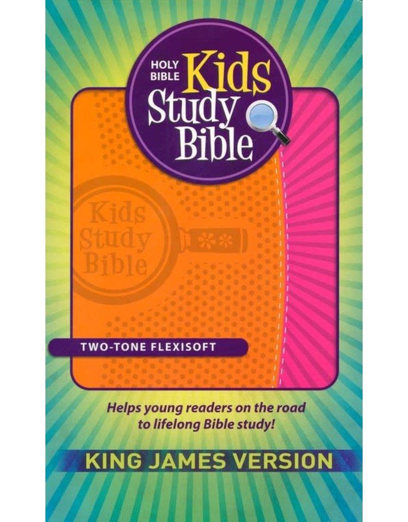 Kids Study Bible Two-Tone Flexisoft Orange/Pink