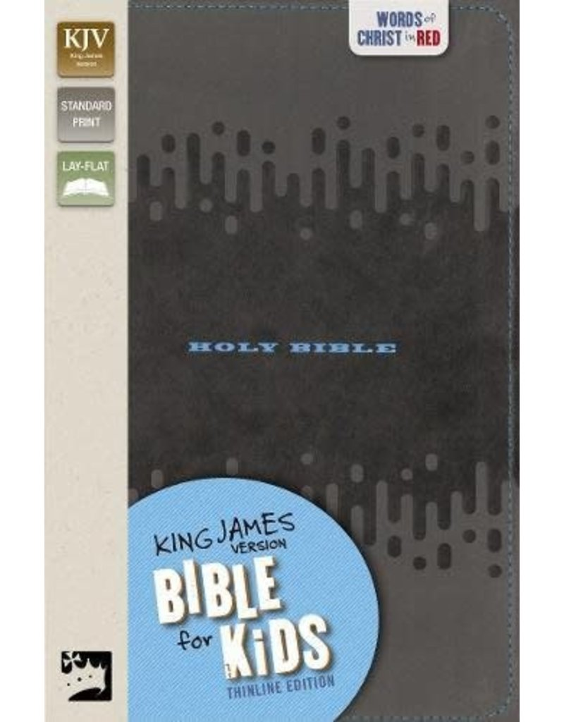 Thinline Bible for Kids Charcoal Leathersoft