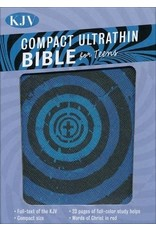 Compact Ultrathin Bible for Teens Blue Vortex Leather Touch