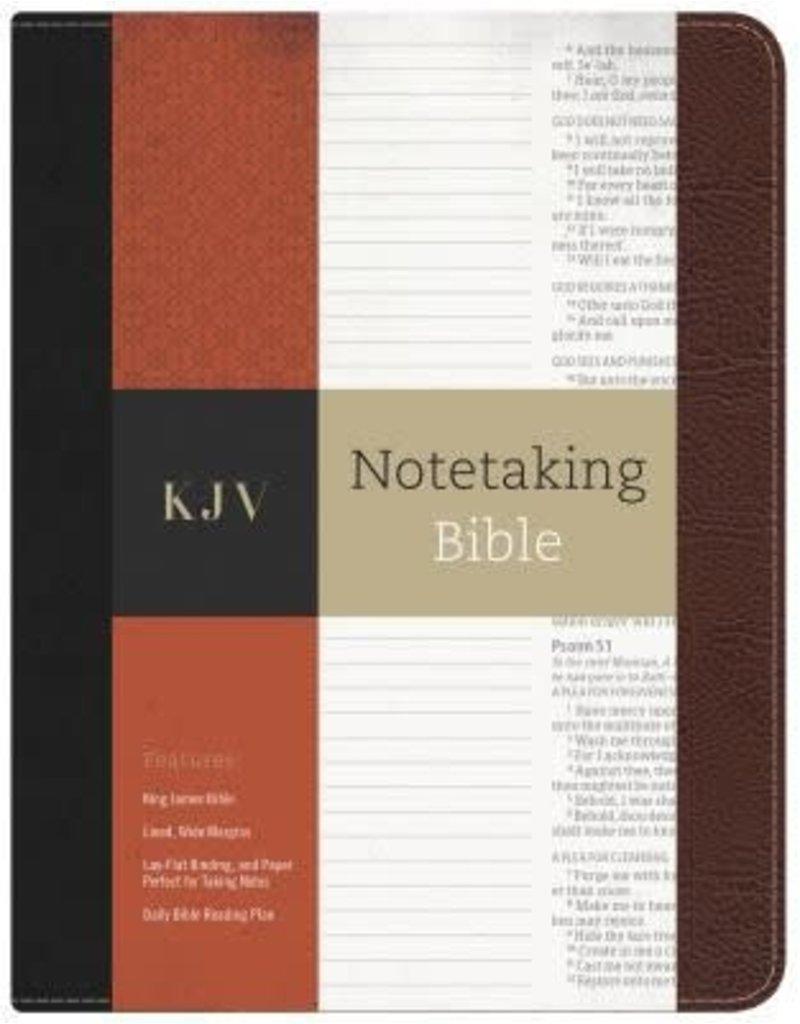 Notetaking Bible Black/Brown Bonded