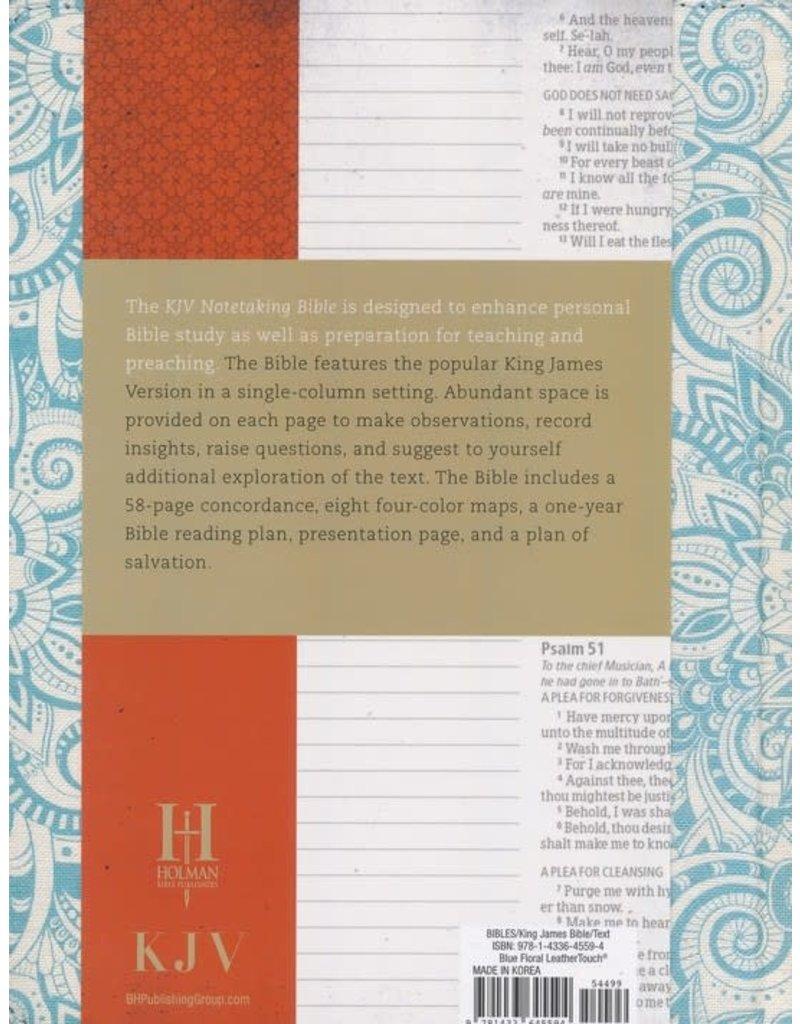 Notetaking Bible Blue Floral