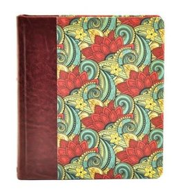 Expressions Bible Deluxe Burgundy Floral Hardcover