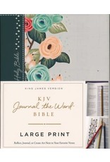 Large Print Journal the Word Bible Hardcover Floral