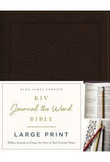 Large Print Journal the Word Bible Brown Bonded Leather