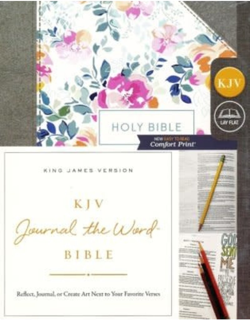 Journal the Word Bible Pink Floral Hardcover