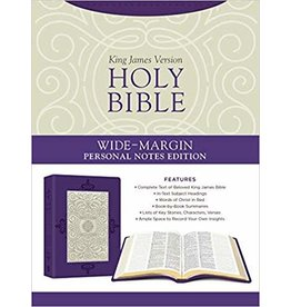Wide-Margin Personal Notes Bible Plum/White Leathersoft