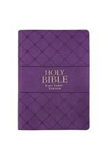 Super Giant Print Bible Purple Leathersoft