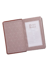 Giant Print Standard Bible Duo-tone Brown Leathersoft