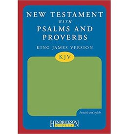 New Testament with Psalms and Proverbs Green Flexisoft