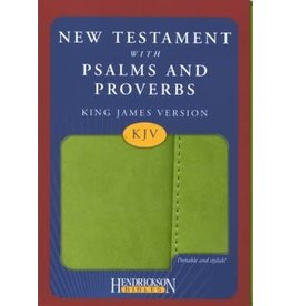 New Testament with Psalms and Proverbs with Flap Green