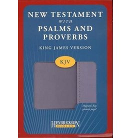 New Testament with Psalms and Proverbs with Flap Purple