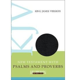 New Testament with Psalms and Proverbs Black Bonded Leather