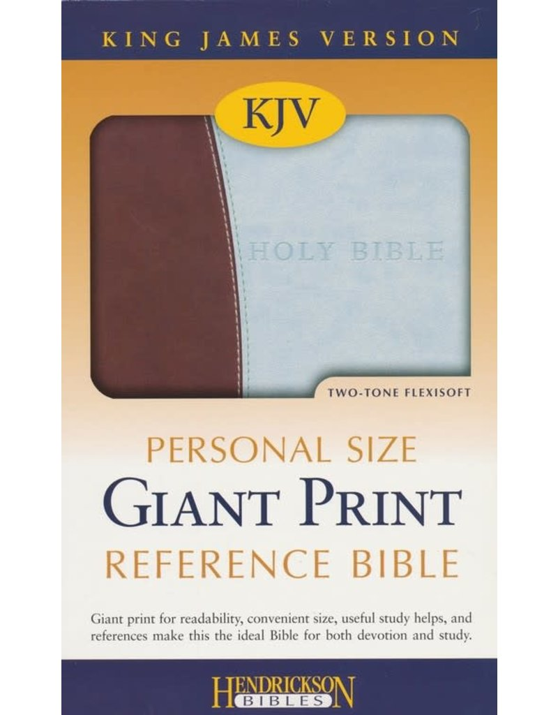 Personal Size Giant Print Reference Bible Chocolate/ Blue Flexisoft