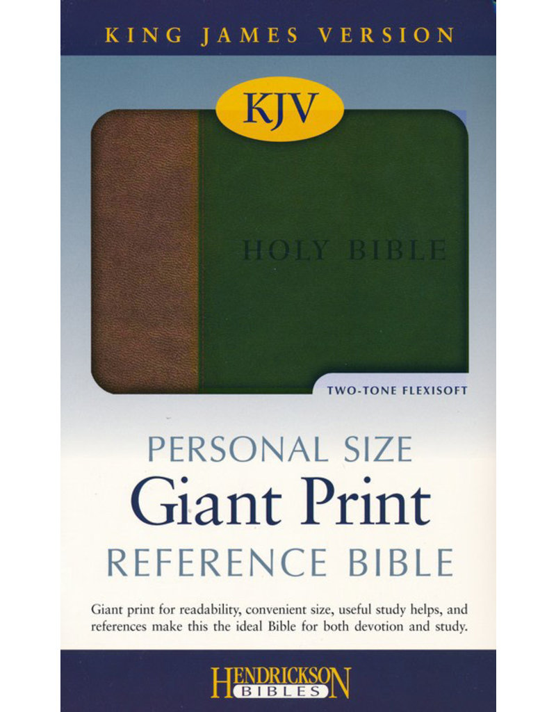 Personal Size Giant Print Brown/Green Flexisoft
