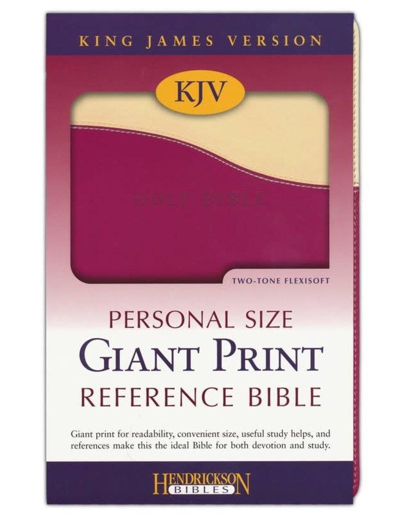 Personal Size Giant Print Cream/Raspberry Flexisoft