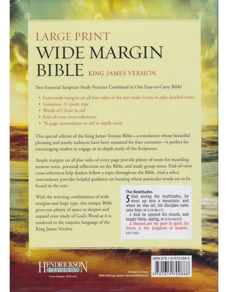 Large Print Wide Margin Bible Duo Tone Brown LuxLeather