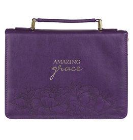 Amazing Grace Purple Faux Leather Fashion Bible Cover