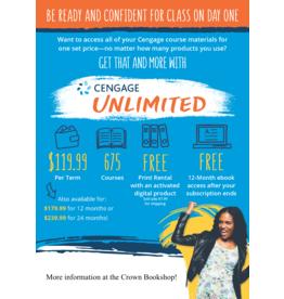 Cengage Unlimited Printed Access Card