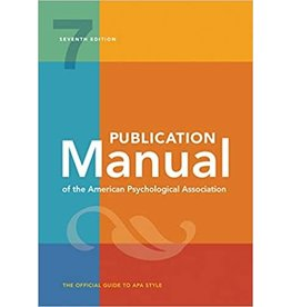 Publication Manual of the American Psychological Association, 7th edition