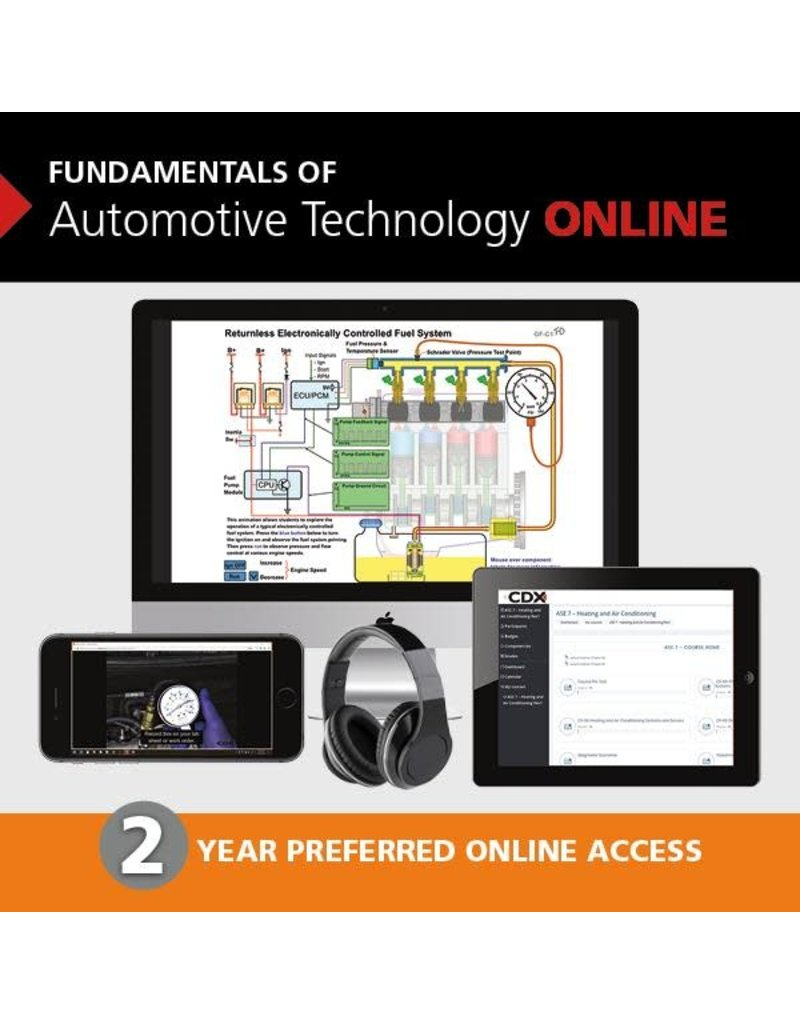 Fundamentals of Automotive Technology 2nd edition 2 year access card