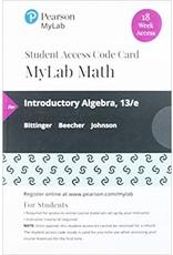 Introductory Algebra MyLab Math Access Card (18 Week)