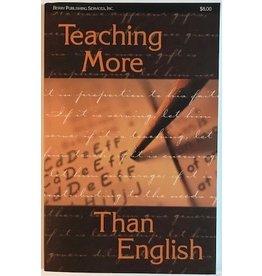 Teaching More Than English
