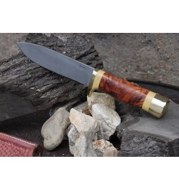 Serenity Drop Point Hunter Hidden Tang Stabilized Amboyna
