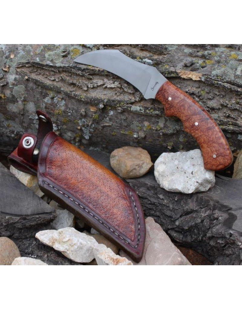 Serenity Karambit CPM154 Afzelia X-Lay Wood Handle