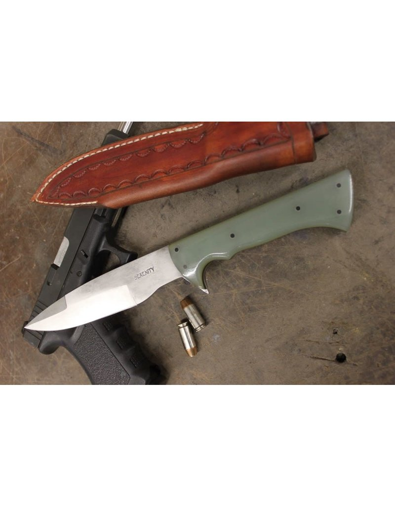 Serenity Black Hawk Tactical Knife in CPM154 Jade Green G10 Handle with Spacers
