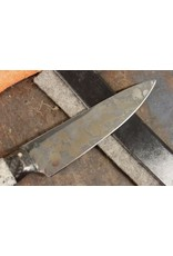 Serenity Honesuki Kitchen Knife: Carbon Fiber & Coral Handle