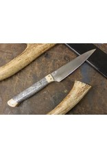 Serenity M-Style Paring Knife: Ivory Micarta & Coral Handle