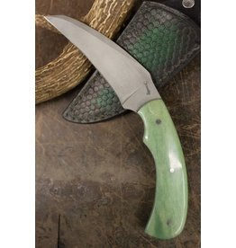 Serenity Karambit: Self Defense Knife CPM 154 Green Giraffe Bone