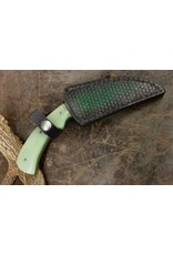 Serenity Karambit: Self Defense Knife CPM 154 Green Giraffe Bone