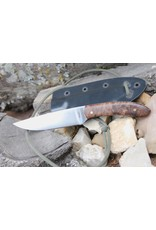 Serenity Straight Drop Neck Knife 52100 High Carbon Steel