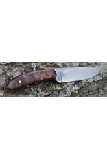 "Serenity 3 1/2"" Straight Drop Neck Knife 52100 High Carbon Steel"