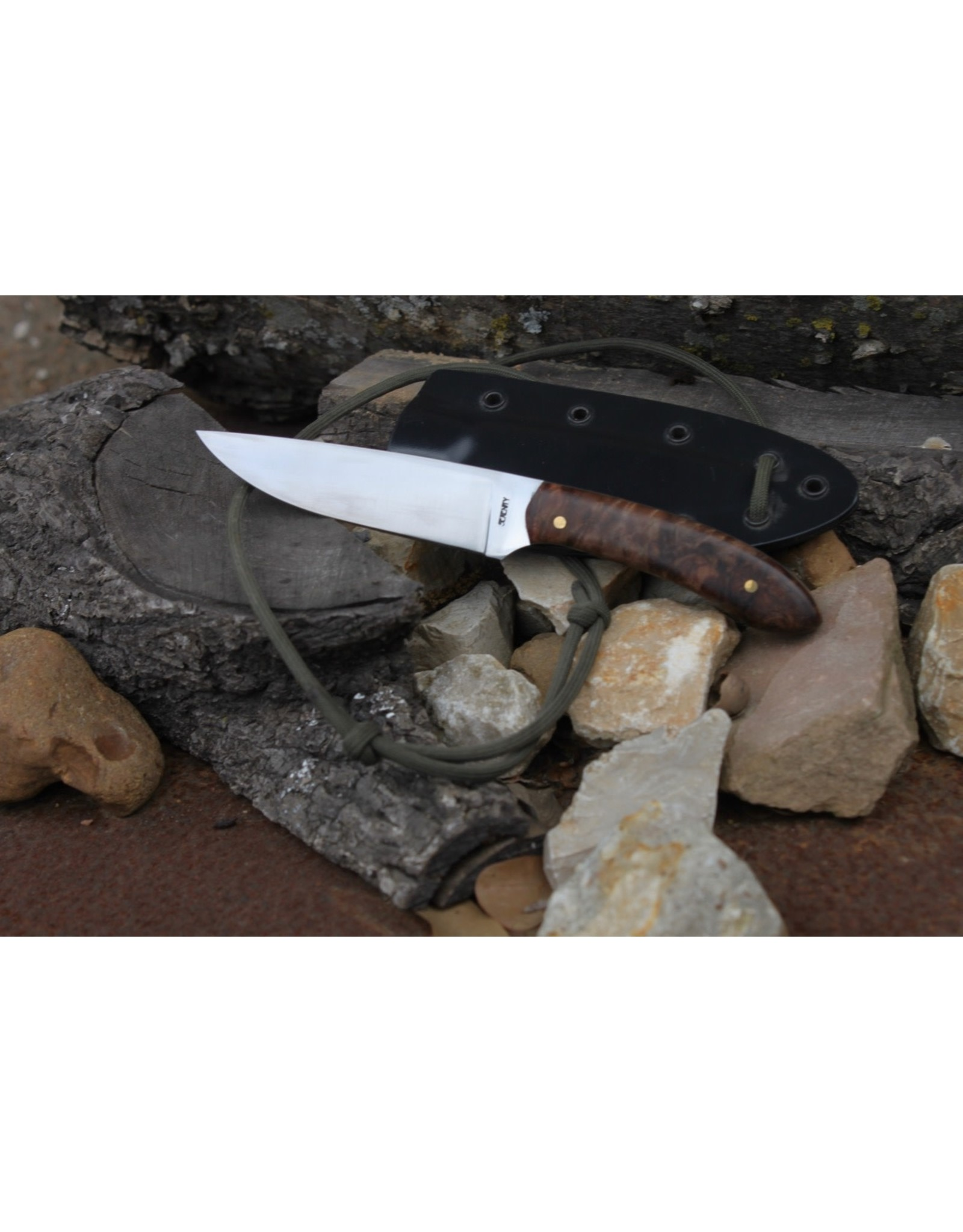 """Serenity 3 1/2"""" Straight Drop Neck Knife 52100 High Carbon Steel"""