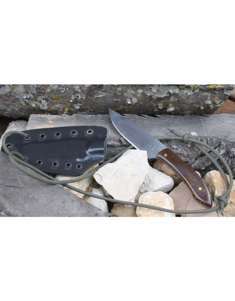 """Serenity 3"""" Straight Drop Neck Knife 52100 High Carbon steel with Juma Handle"""