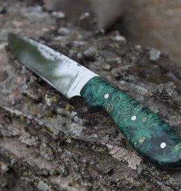 Serenity Model 1 Neck Knife Green Box Elder