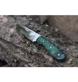 Serenity Model 1 Neck Knife Green Box Elder