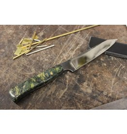 Serenity K-Tip Paring Knife Green Box Elder Handle