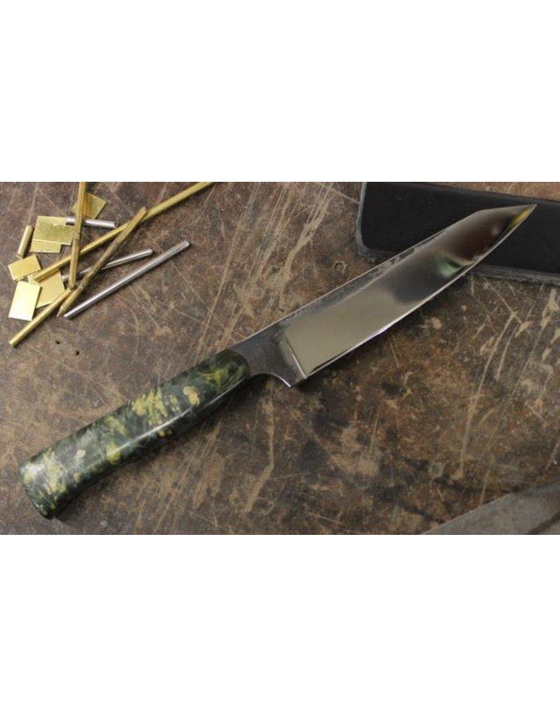 Serenity K-Tip Paring Knife Green Box Elder Handle