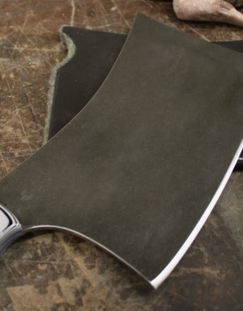 Serenity Wicked Point Cleaver CPM154 Grey/Black G10, Stone Wash Finish